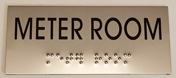 METER ROOM Sign -Tactile Signs    Braille sign