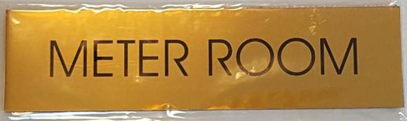 METER ROOM SIGNAGE - GOLD ALUMINUM
