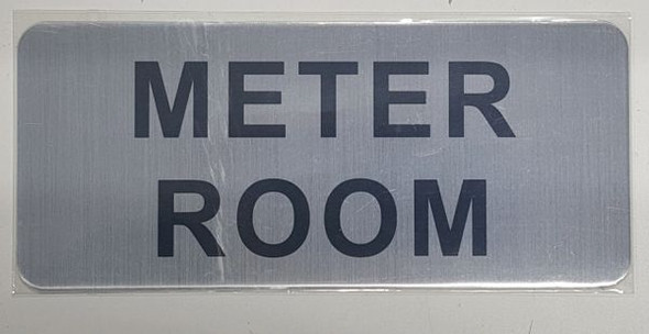 METER ROOM SIGN- BRUSHED ALUMINUM - The Mont Argent Line