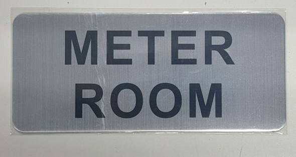 METER ROOM SIGNAGE- BRUSHED ALUMINUM - The Mont Argent Line