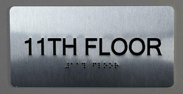 11th Floor Sign- Floor Number Tactile Touch Braille Sign