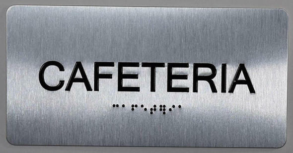 Cafeteria Sign ADA -Tactile Touch   Braille sign - The Sensation line -Tactile Signs  Braille sign