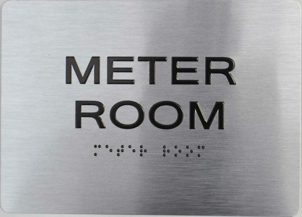 Meter Room ADA Sign -Tactile Signs  The sensation line Ada sign