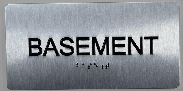 Basement Floor Number Sign -Tactile Signs Tactile Signs  Floor Number Tactile Touch Braille Sign - The Sensation line Ada sign