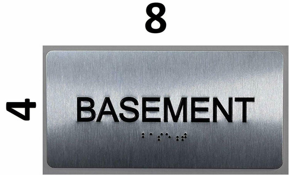 Basement Floor Number Sign- Floor Number Tactile Touch Braille Sign