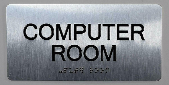 Computer Room Sign ADA -Tactile Touch   Braille sign - The Sensation line -Tactile Signs  Braille sign