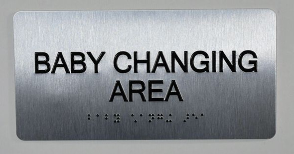 Baby Changing Area Sign ADA -Floor Number Tactile Touch   Braille sign - The Sensation line -Tactile Signs   Braille sign