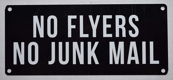 NO Flyers NO Junk Mail Signage