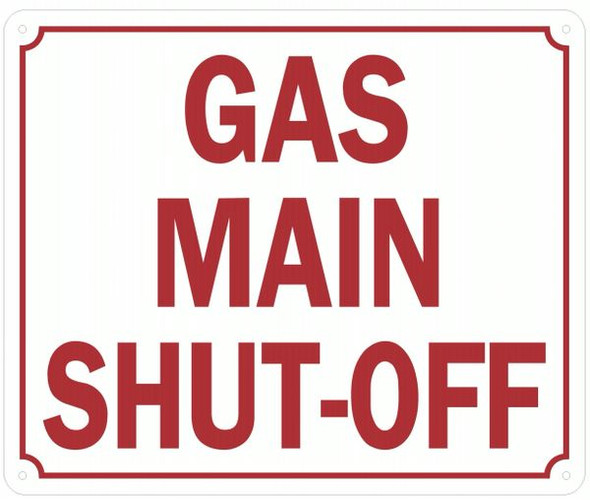 GAS MAIN SHUT-OFF SIGN