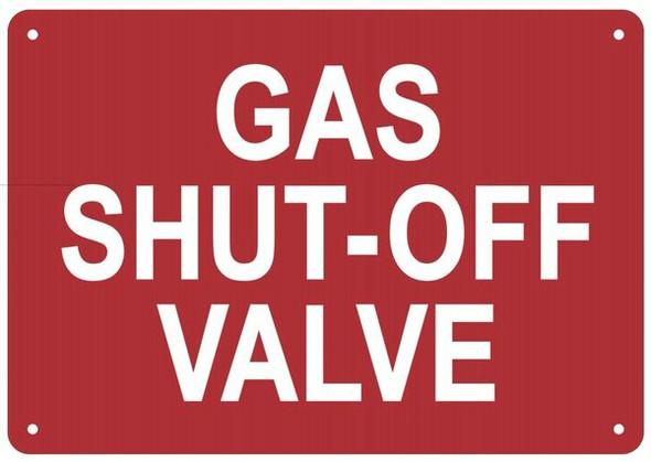 GAS SHUT-OFF VALVE SIGN for Building