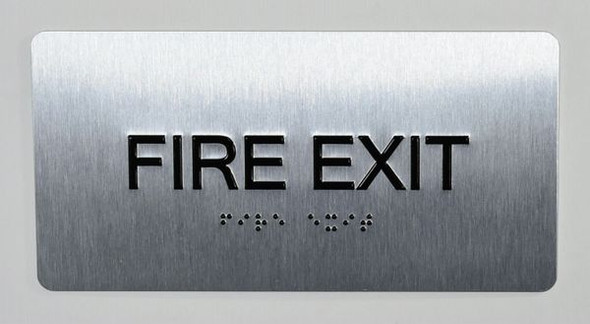 FIRE EXIT Sign -Tactile Touch Braille Sign - The Sensation line -Tactile Signs Ada sign
