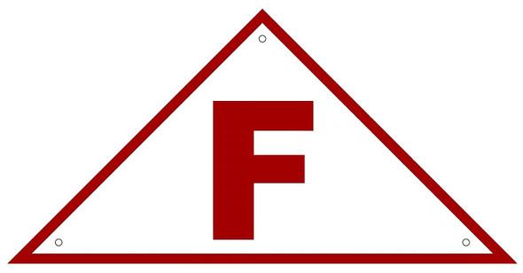 State Truss Construction Sign - F Triangular