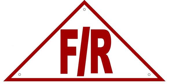 State Truss Construction Sign-F/R Triangular