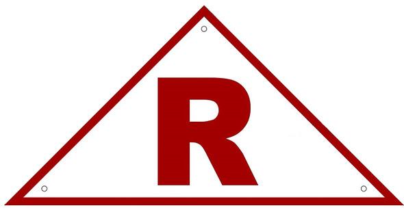 State Truss Construction Sign-R Triangular ,