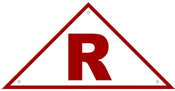 State Truss Construction Sign-R Triangular