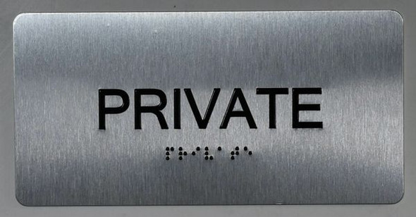 Private Sign -Tactile Signs Tactile Touch Braille Sign - The Sensation line Ada sign
