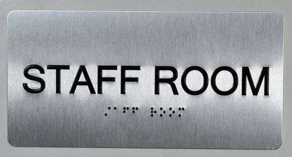 Staff Room Sign -Tactile Touch   Braille sign - The Sensation line -Tactile Signs   Braille sign