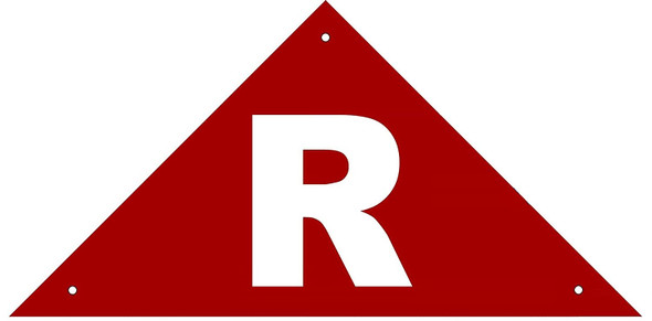 State Truss Construction Sign-R Triangular sign