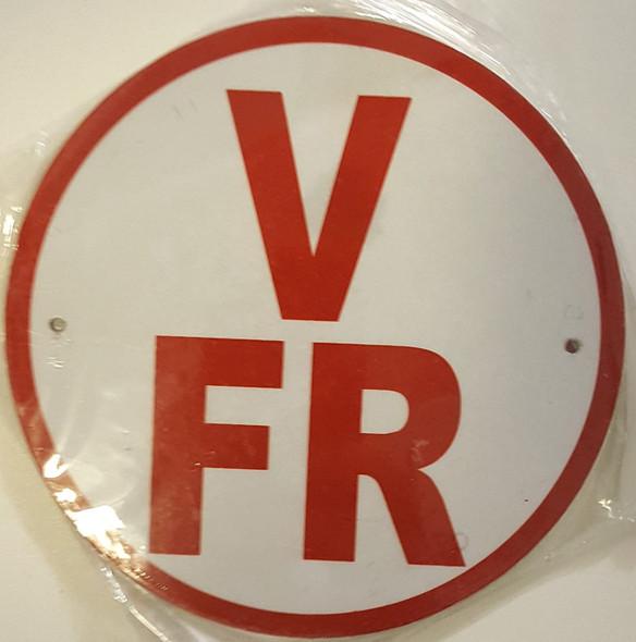 V-FR Floor Truss Circular Signage-New York Truss Construction Signage