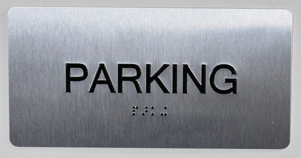 Parking Floor Number Sign -Tactile Touch Braille Sign - The Sensation line -Tactile Signs  Ada sign