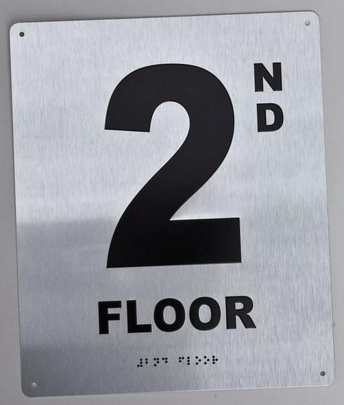 2ND Floor Sign ada