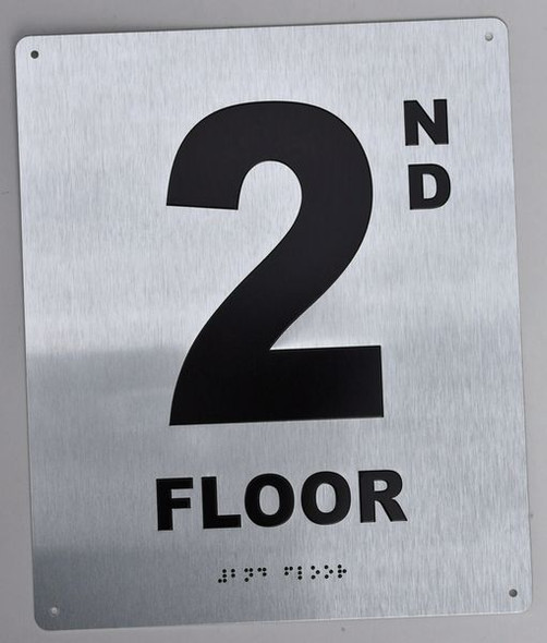 2ND Floor Sign -Tactile Signs Tactile Signs  Floor Number Sign -Tactile Signs Tactile Signs  Tactile Touch   Braille sign - The Sensation line  Braille sign