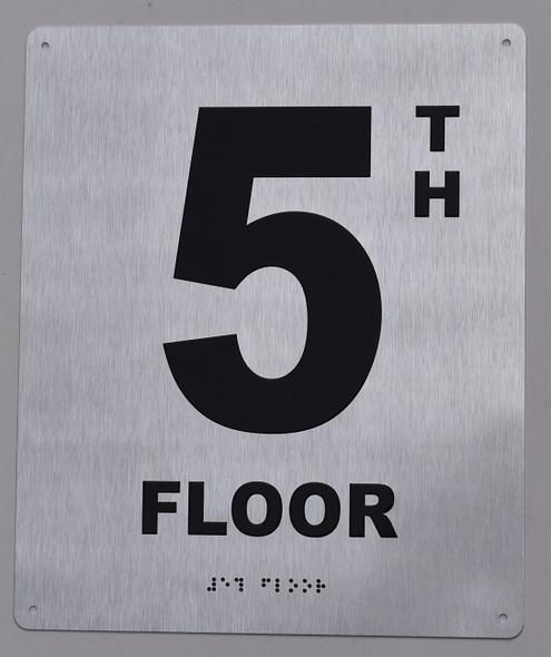5th floor ada silver floor number sign
