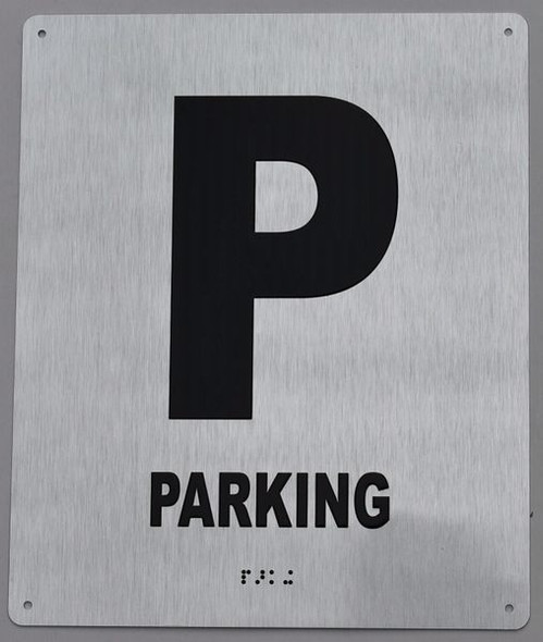 Parking Floor Number Sign -Tactile Signs Tactile Signs Tactile Touch Braille Sign - The Sensation line Ada sign