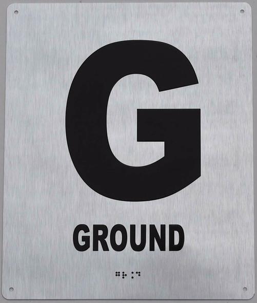 Ground Floor Sign- Floor Number Sign-