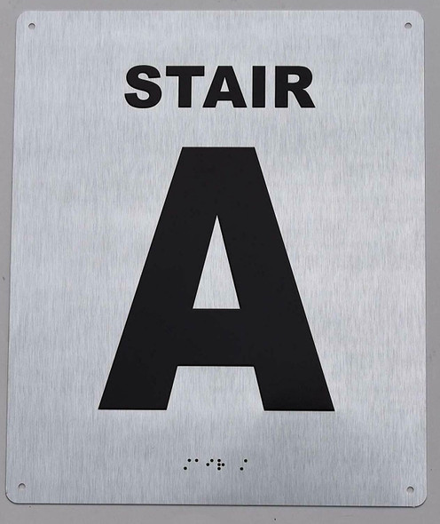 Stair A Sign- Tactile Touch Braille Sign