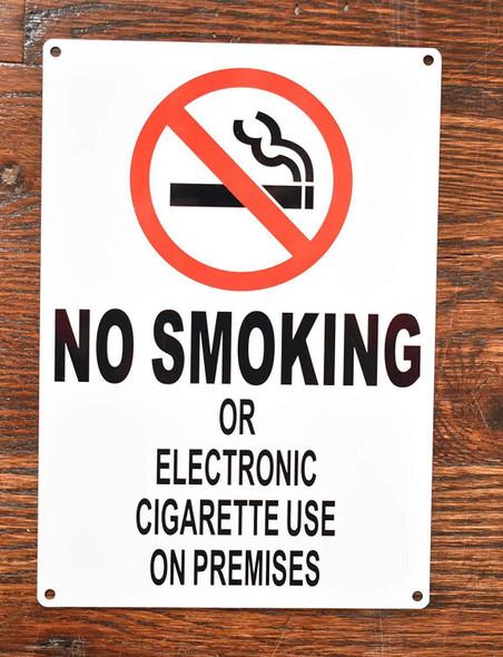 NO Smoking OR Electronic Cigarette USE ON Premises- NYC Smoke Free ACT Sign
