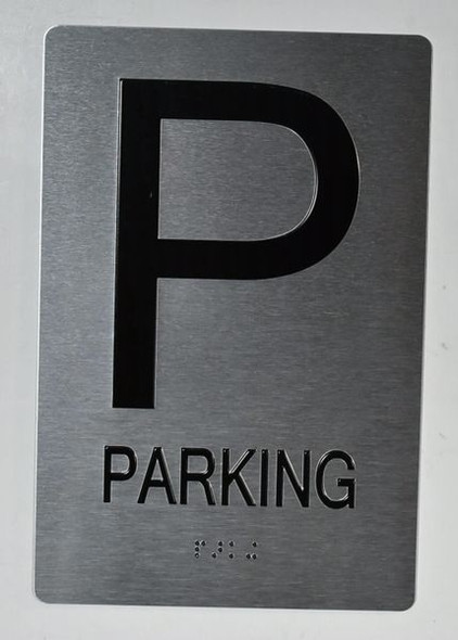 Parking Floor Number Sign  - Tactile Touch   Braille sign- The Sensation line -Tactile Signs   Braille sign