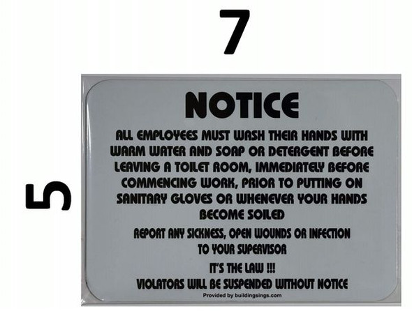 EMPLOYEES MUST WASH HANDS dob SIGN