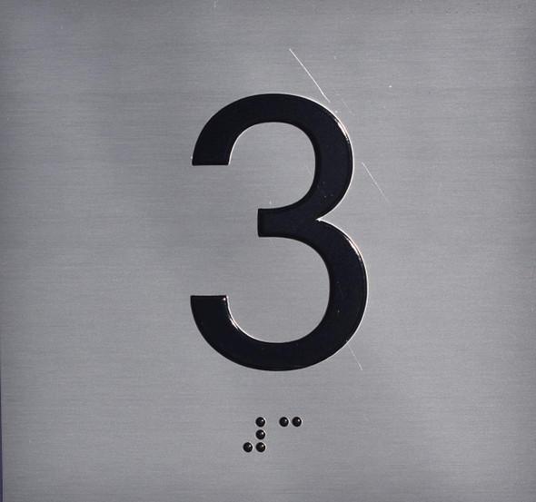 3RD Floor Elevator Jamb Plate Sign