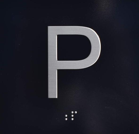 P Elevator Jamb Plate Sign Parking