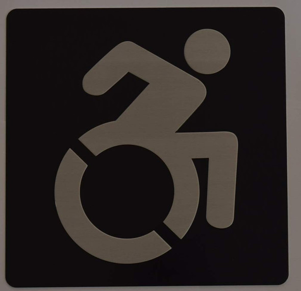 ADA International Symbol of Accessibility (ISA) Sign -Tactile Signs   Braille sign