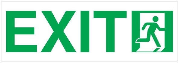Exit Sign Glow in The Dark (Photoluminescent,High Intensity