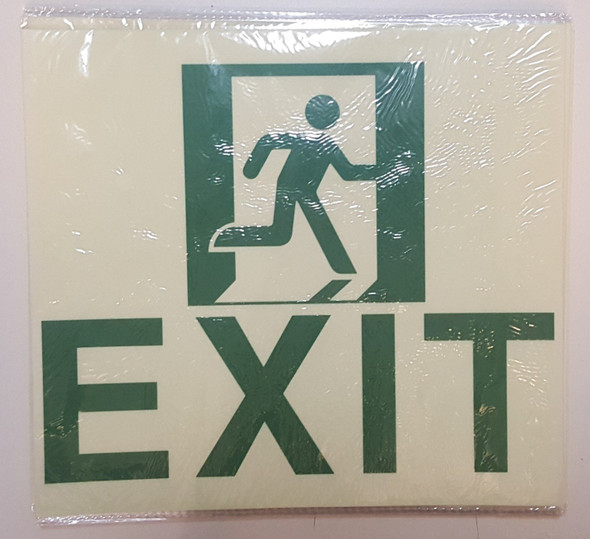Exit Sign Glow in The Dark