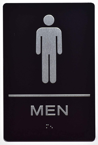 Men Restroom  Braille sign -Tactile Signs  The Sensation line  Braille sign