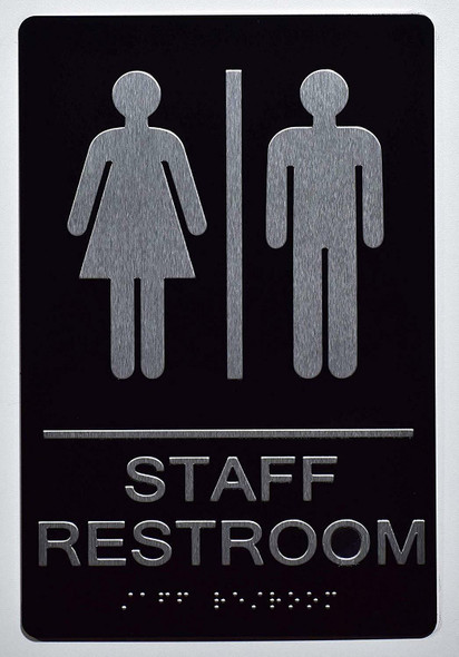 Staff Restroom Sign -Tactile Signs  The Sensation line  Braille sign