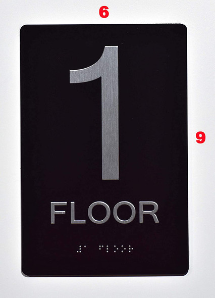 1ST FLOOR ADA SIGN BLACK