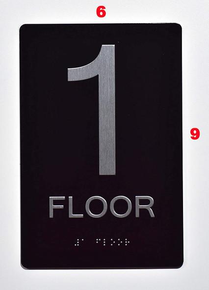 Floor Number Sign -Tactile Signs 1ST Floor Tactile  Sign The Sensation line  Braille sign