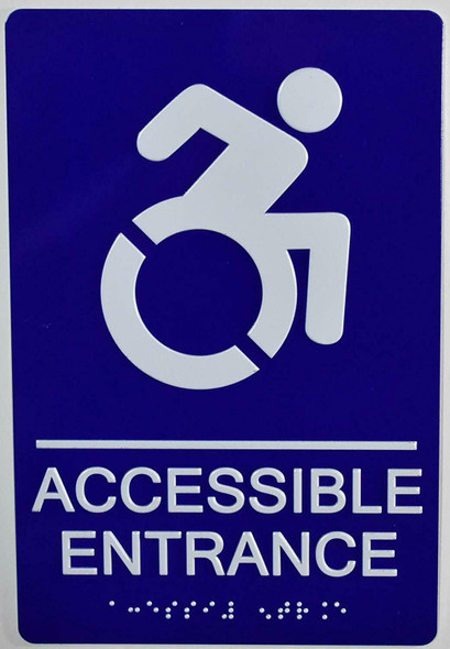 ACCESSIBLE Entrance SIGN  The Sensation line -Tactile Signs   Braille sign