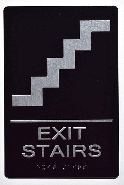 EXIT Stairs Sign  The Sensation line -Tactile Signs   Braille sign