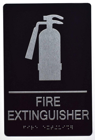 FIRE Extinguisher Sign -ADA Sign  The Sensation line -Tactile Signs   Braille sign