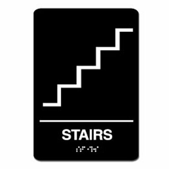 Stairs Sign Black Ada Sign