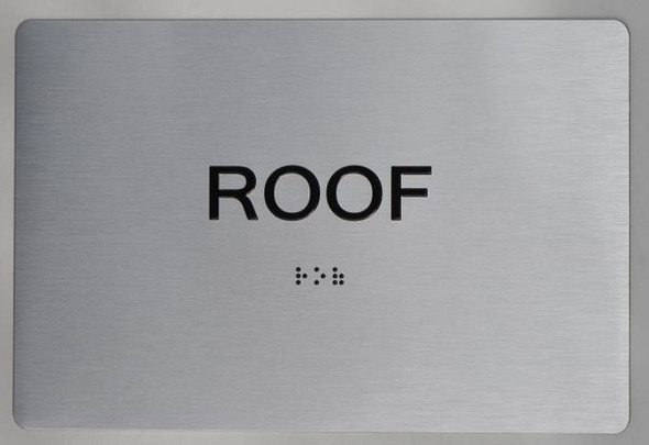 ROOF  Braille sign -Tactile Signs  The sensation line  Braille sign