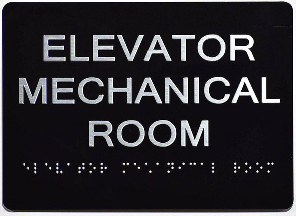 Elevator Mechanical Room Sign   The Sensation line -Tactile Signs   Braille sign