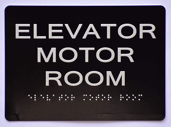 Elevator Motor Room Sign   The Sensation line -Tactile Signs  Ada sign