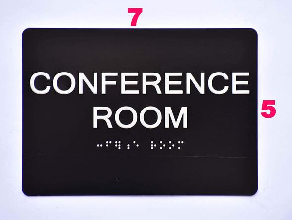 Conference Room Sign Black